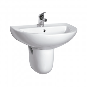 KIT IDEAL LAVABO 55 + SEMIPEDESTAL