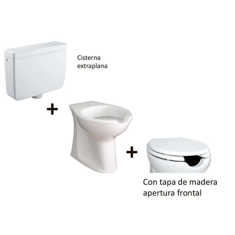Kit inodoro especial movilidad reducida con apertura for Inodoro minusvalidos