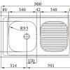 OBRA B 1C1E 900x500mm