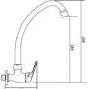 Monomando 1 Agua GIRATORIO, VERTICAL