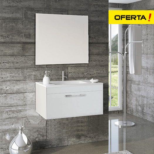 Mueble de baño florencia con lavabo y espejo