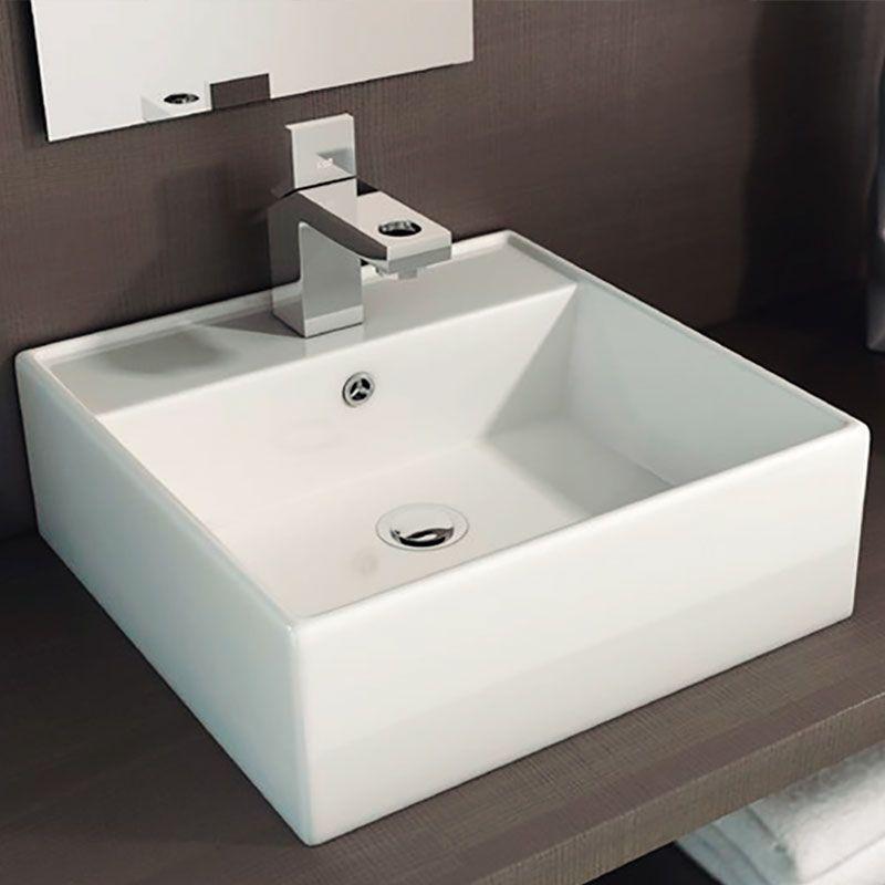 Lavabo libra sobre encimera tegler for Embellecedor rebosadero lavabo