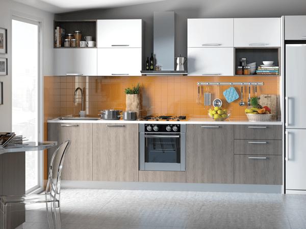 Mueble sobre FRIGORÍFICO con puerta abatible-cocina