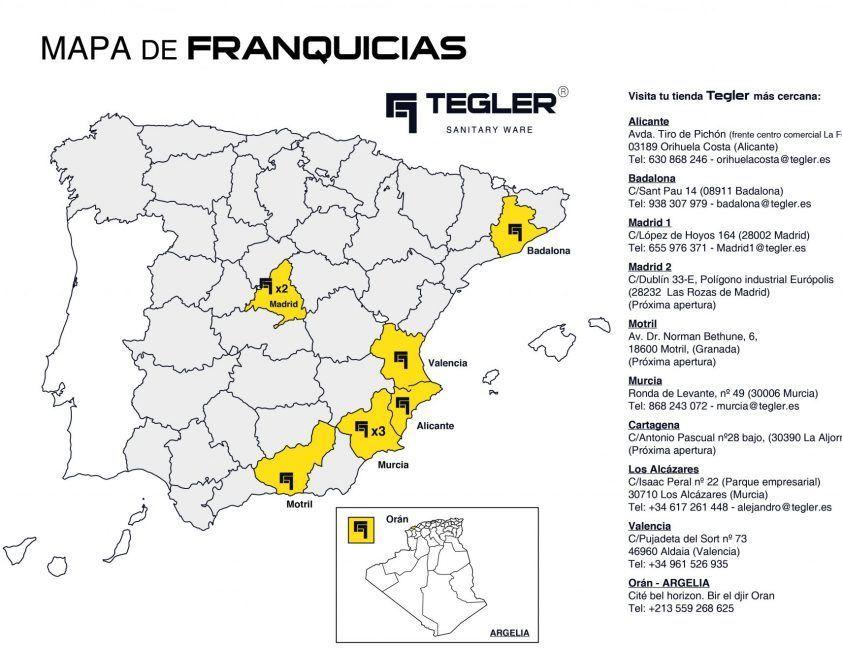 Mapa FRANQUICIAS_Tegler
