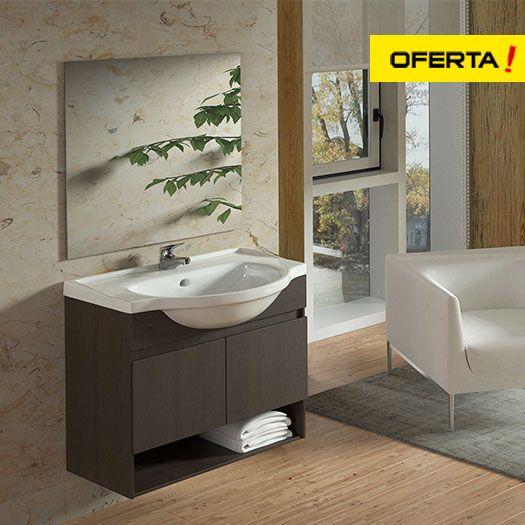 Conjunto de baño nebari sinatra con lavabo amplio